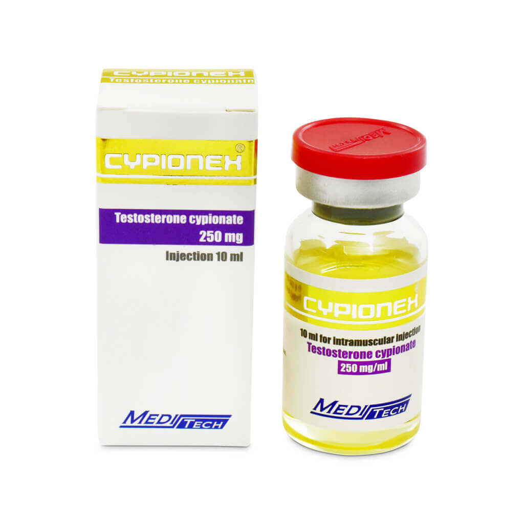 Buy CYPIONEX Testosterone Cypionate 250mg / Ml 10ml / Vial - Meditech UK - UKSteroidShop